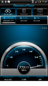 sfr test medium Test 4G SFR : plus de 70 Mbps !