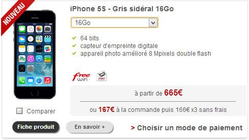 iphone5s freemobile iPhone 5S disponible chez Free Mobile