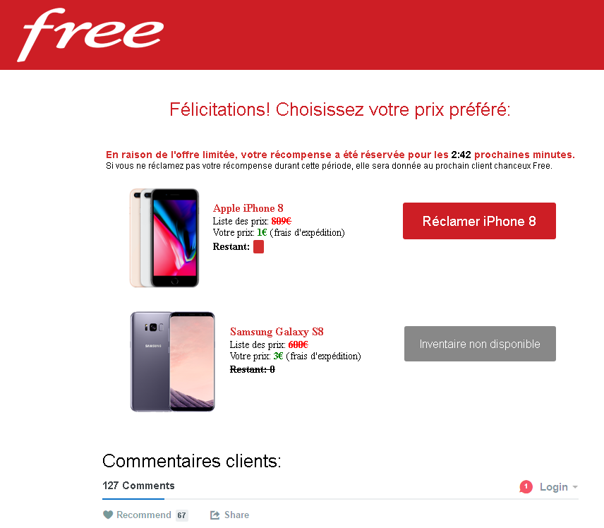 Free Offre Mobile Iphone X